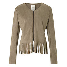 Buy Numph Basil Suede Look Jacket, Fossil Online at johnlewis.com