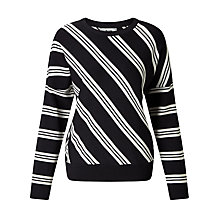 Buy BZR Faye Stripe Jumper, Navy Online at johnlewis.com