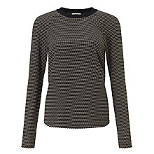 Buy BZR Betsy Patterned Top, Black Online at johnlewis.com