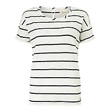 Buy Numph New Pixie Stripe T-Shirt, Cloud Dancer Online at johnlewis.com