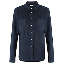Buy Numph Cilantro Suede Look Shirt, Navy Online at johnlewis.com