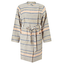 Buy BZR Cathy Stripe Coat, Grey/Blue Online at johnlewis.com