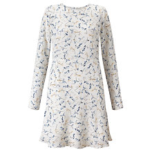 Buy BZR Sana Printed Dress, White/Blue Online at johnlewis.com