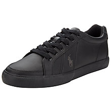 Buy Polo Ralph Lauren Hugh Lace-Up Trainers, Black Online at johnlewis.com