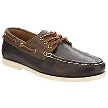 Buy Polo Ralph Lauren Bienne Boat Shoes, Brown/Dark Brown Online at johnlewis.com