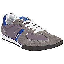 Buy Polo Ralph Lauren Jacory Suede Lace-Up Trainers, Grey/Blue Online at johnlewis.com