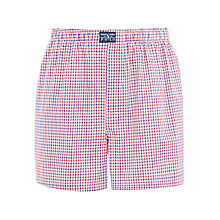 Buy Polo Ralph Lauren John Plaid Woven Cotton Boxers, Red Online at johnlewis.com