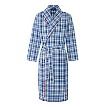 Buy Polo Ralph Lauren Plaid Shawl Collar Robe, Navy Online at johnlewis.com