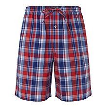 Buy Polo Ralph Lauren Plaid Woven Cotton Lounge Shorts, Red Online at johnlewis.com