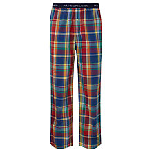 Buy Polo Ralph Lauren Plaid Lounge Pants, Red/Blue/Yellow Online at johnlewis.com