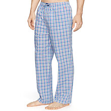Buy Polo Ralph Lauren Jones Check Lounge Pants, Blue/Pink Online at johnlewis.com