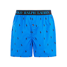 Buy Polo Ralph Lauren Allover Pony Logo Boxers, Blue Online at johnlewis.com
