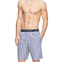 Buy Polo Ralph Lauren Flynn Stripe Lounge Shorts, Navy/White Online at johnlewis.com