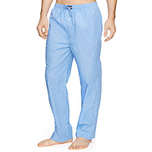 Buy Polo Ralph Lauren Diamond Print Woven Cotton Pyjama Trousers, Blue Online at johnlewis.com