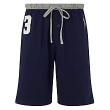 Buy Polo Ralph Lauren No.3 Jersey Lounge Shorts, Navy Online at johnlewis.com