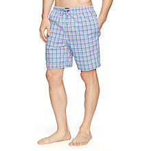 Buy Polo Ralph Lauren Jones Check Cotton Lounge Shorts, Blue/Pink Online at johnlewis.com