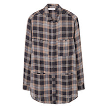 Buy Mango Check Pocket Shirt, Black/Multi Online at johnlewis.com