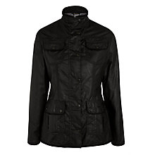 Buy Barbour Utility Waxed Jacket, Black Online at johnlewis.com