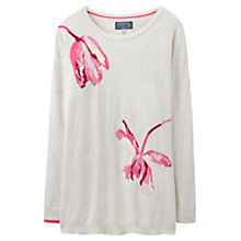 Buy Joules Meryl Drop Shoulder Tulip Jumper, Silver Marl Online at johnlewis.com