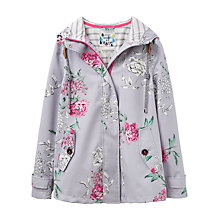Buy Joules Right as Rain Coast Floral Print Waterproof Jacket, Cool Grey Floral Online at johnlewis.com