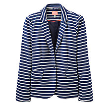 Buy Joules Mollie Stripe Jersey Blazer, French Navy Online at johnlewis.com