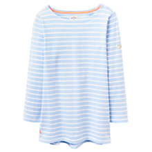 Buy Joules Harbour Stripe Jersey Top, Light Blue Stripe Online at johnlewis.com