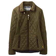Buy Joules Marchesa Slim Fit Quilted Jacket, Grape Leaf Online at johnlewis.com