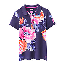 Buy Joules Trinity Slim Fit Rose Print Polo Shirt, Navy/Rose Online at johnlewis.com