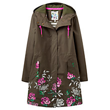 Buy Joules Right as Rain Raina Waterproof Parka, Grape Leaf Floral Online at johnlewis.com