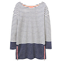Buy Joules Devon Striped Colour Block Top, Navy/Striped Online at johnlewis.com