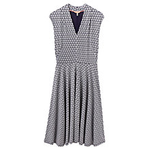 Buy Joules Gracie Shell Print Jersey Dress, Soft Navy Online at johnlewis.com