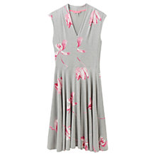 Buy Joules Gracie Floral Print Dress, Grey Marl Tulip Online at johnlewis.com