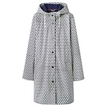 Buy Joules Right as Rain Raindance Shell Print Waterproof Mac, Soft Navy Shell Online at johnlewis.com