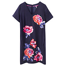Buy Joules Kate Printed Dress, Navy Rose Online at johnlewis.com