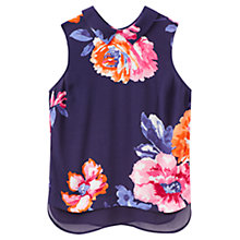 Buy Joules Lilias Floral Print Top, Navy Rose Online at johnlewis.com
