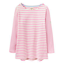 Buy Joules Harbour Stripe Jersey Top, Pink Stripe Online at johnlewis.com