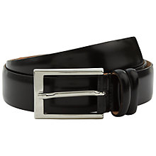 Buy Jaeger High Shine Leather Belt, Black Online at johnlewis.com