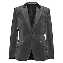 Buy Reiss Velvet Magnum Velvet Blazer, Grey Online at johnlewis.com