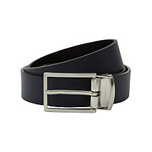 Buy Jaeger Reversible Leather Belt, Black/Navy Online at johnlewis.com