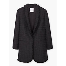 Buy Mango Pocket Tweed Jacket, Black Online at johnlewis.com