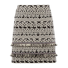 Buy Oasis Tweed Tufty Skirt, Black/White Online at johnlewis.com