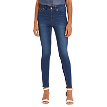 Buy Oasis Lily High Waisted Ankle Grazer Jeans, Dark Wash Online at johnlewis.com