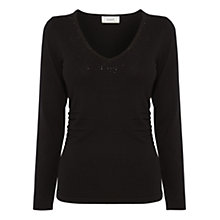 Buy Coast Marte Sparkle Knit Top, Black Online at johnlewis.com