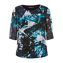 Buy Sugarhill Boutique Evie Ice Print Top, Teal Online at johnlewis.com