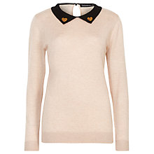 Buy Sugarhill Boutique Georgia Heart Sequin Jumper, Cream/Black Online at johnlewis.com