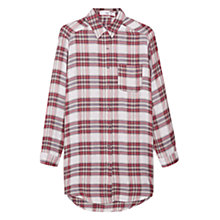 Buy Mango Checkered Shirt, Red Online at johnlewis.com
