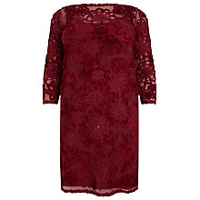 Buy Studio 8 Coralie Tapework Dress, Red Online at johnlewis.com