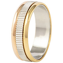 Buy Susan Caplan for John Lewis Silver and Gold Plated Ridged Ring, Gold/Silver Online at johnlewis.com