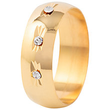 Buy Susan Caplan for John Lewis Gold Plated Crystal Ring, Gold/Crystal Online at johnlewis.com