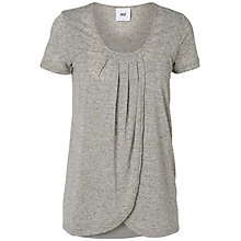 Buy Mamalicious Tacey Iris Short Sleeve Maternity Nursing Top, Grey Melange Online at johnlewis.com